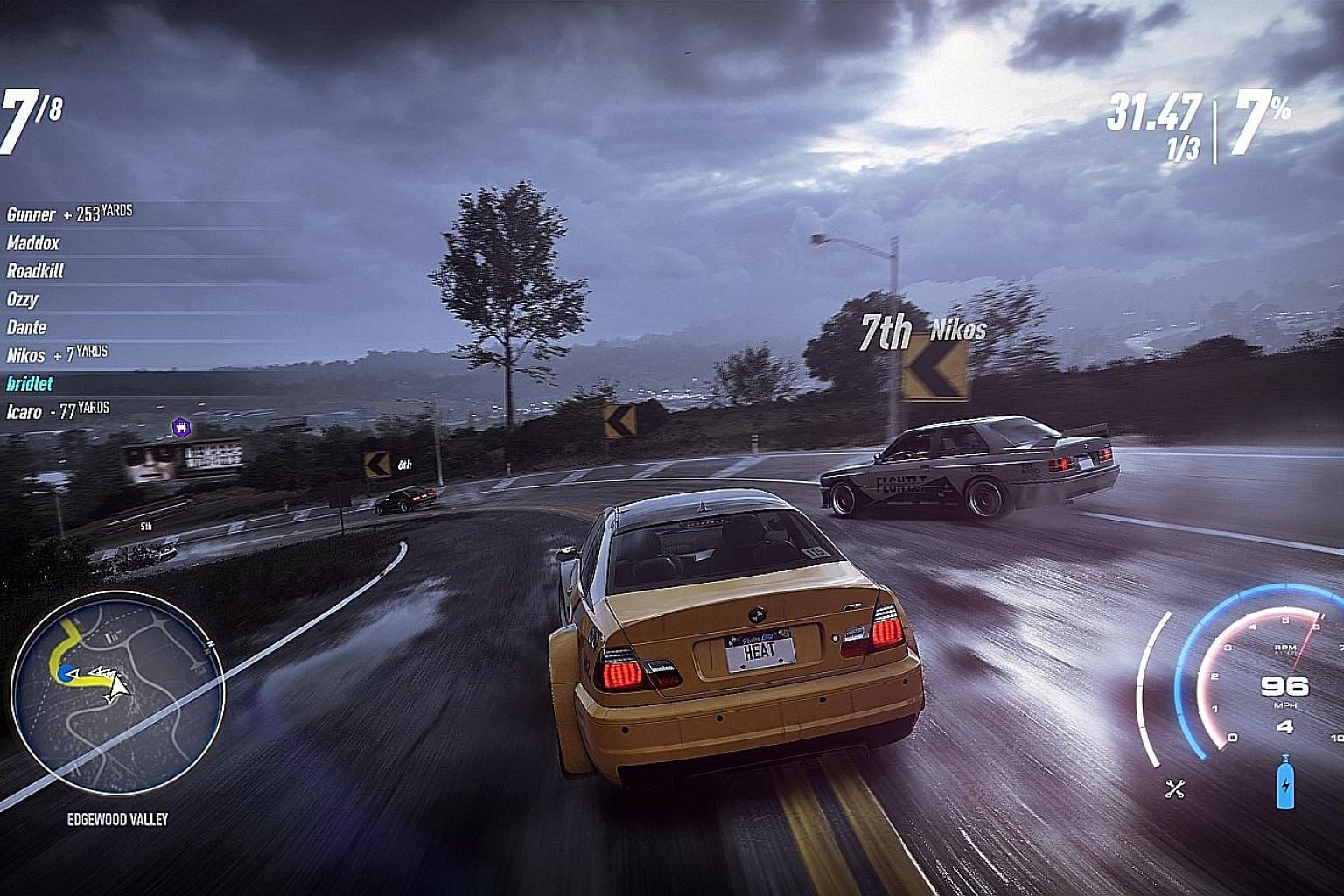 Need For Speed Heat has realistic graphics and sound effects as well as a pulsating soundtrack that makes the game more enjoyable.