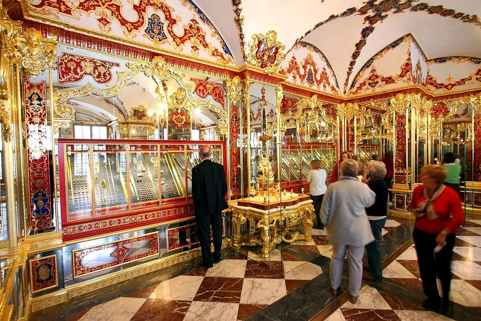 The Green Vault in Dresden, where thieves made off with jewellery that could be worth up to US$1 billion (S$1.37 billion) on Monday. The market in stolen art and antiquities has been estimated at up to US$6 billion annually, and only a small fraction