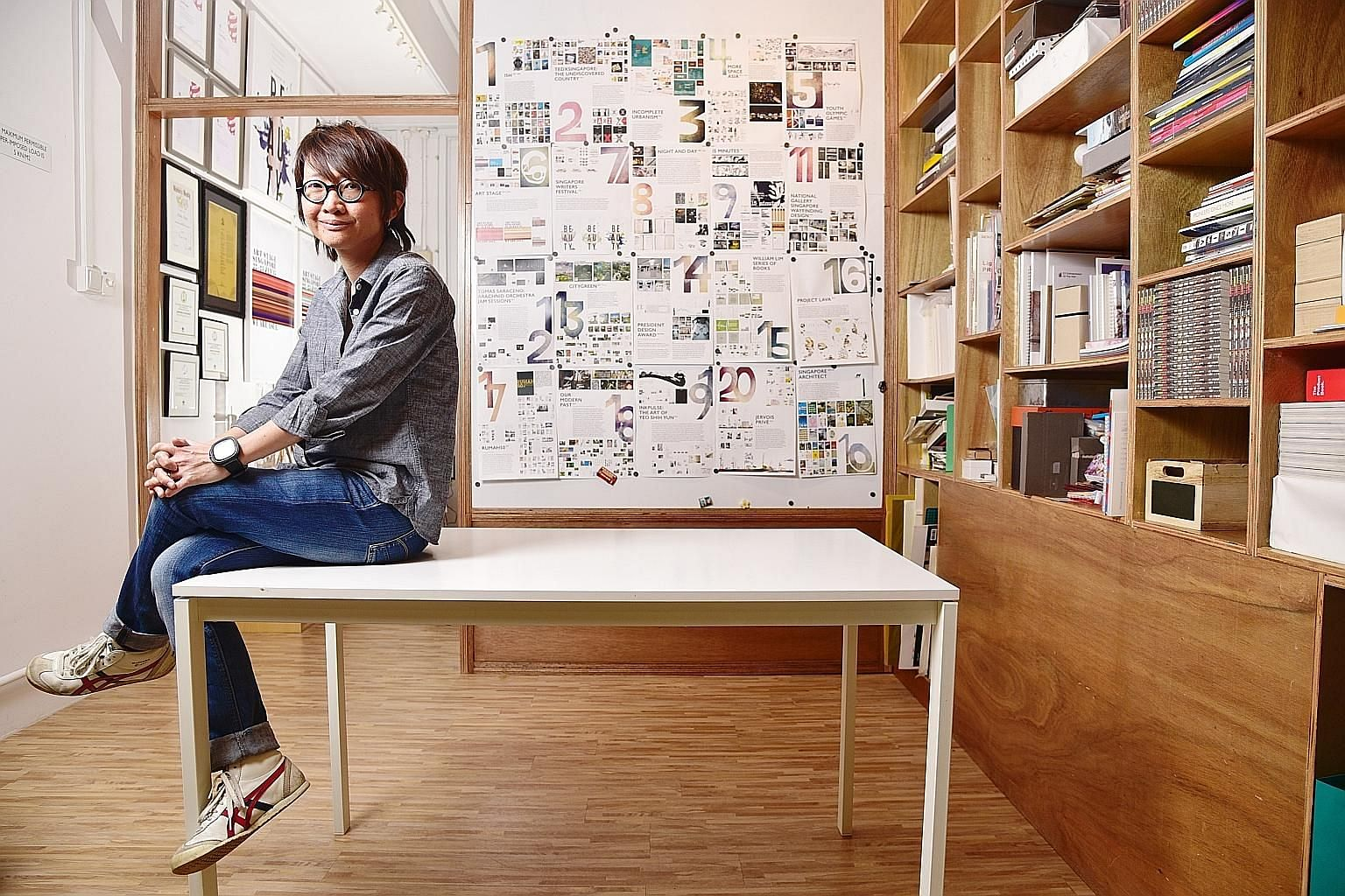 The 20-year career of Ms Kelley Cheng (above) is celebrated at a retrospective at the National Design Centre.