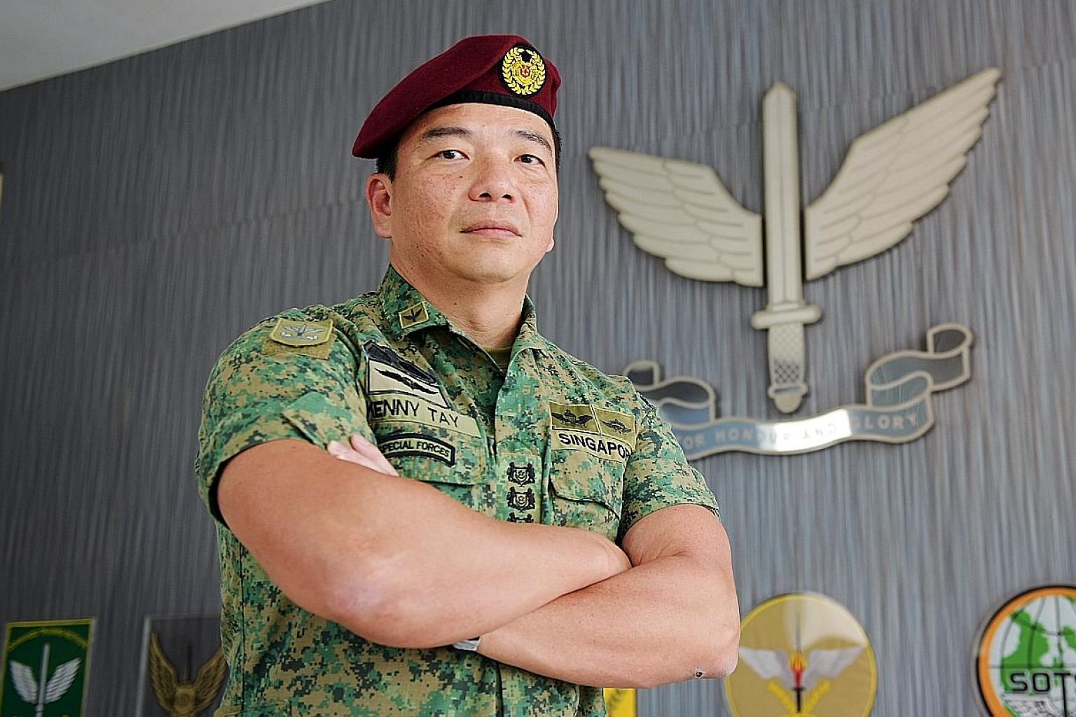 Chief Commando Officer Kenny Tay feels today's soldiers give up more comforts than their predecessors did when they enlist.