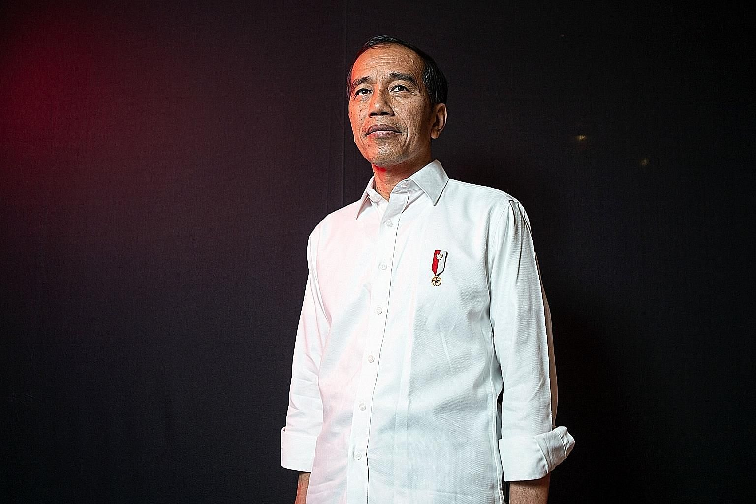 """The presidential spokesman said President Joko Widodo felt The Straits Times """"has succeeded in capturing his vision for the next five years"""" and its hope for him not to compromise on democracy and build a corrupt-free, open, tolerant and inclusive co"""