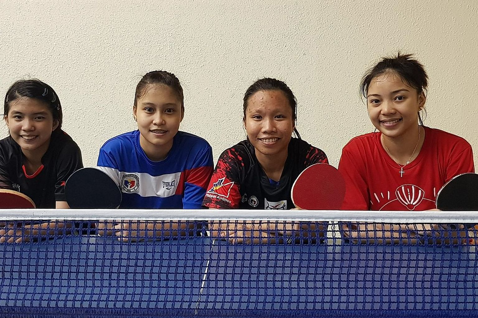Philippine women's table tennis players (from far left) Kheith Cruz, Jannah Romero, Rose Fadol and Emy Rose Dael are aiming for their first medal in the sport at the Games. And if Romero, the highest-ranked among them, succeeds, she will dedicate it to th