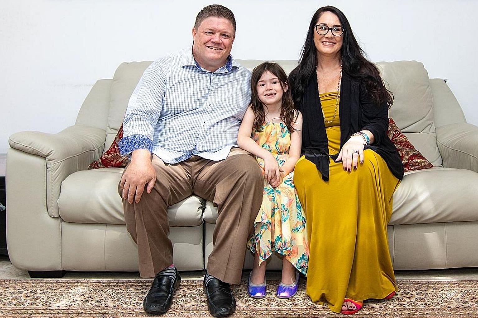 Mr Chris Brankin with his wife, Andrea, and daughter, Georgia. The TD Ameritrade Singapore chief executive says providing for his family has always been a priority. He invests mainly in equities and uses options to supplement returns and protect posi