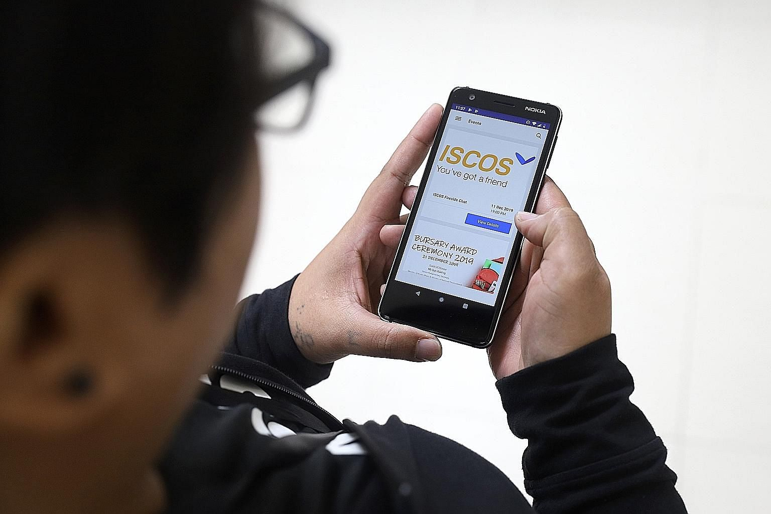 Each smartphone given out under Project Give A Line, Change A Life comes with a six-month unlimited data plan and an app aimed at helping the former offenders.