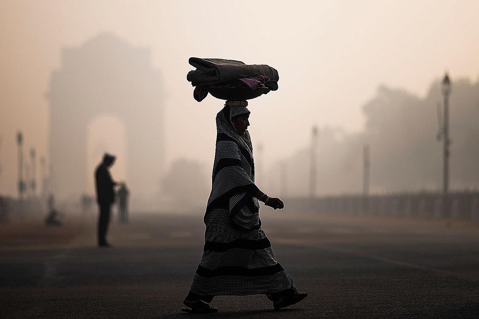 "New Delhi's 20 million residents have had ""moderate"" to ""satisfactory"" air only for four days in the past two months. PHOTO: AGENCE FRANCE-PRESSE"