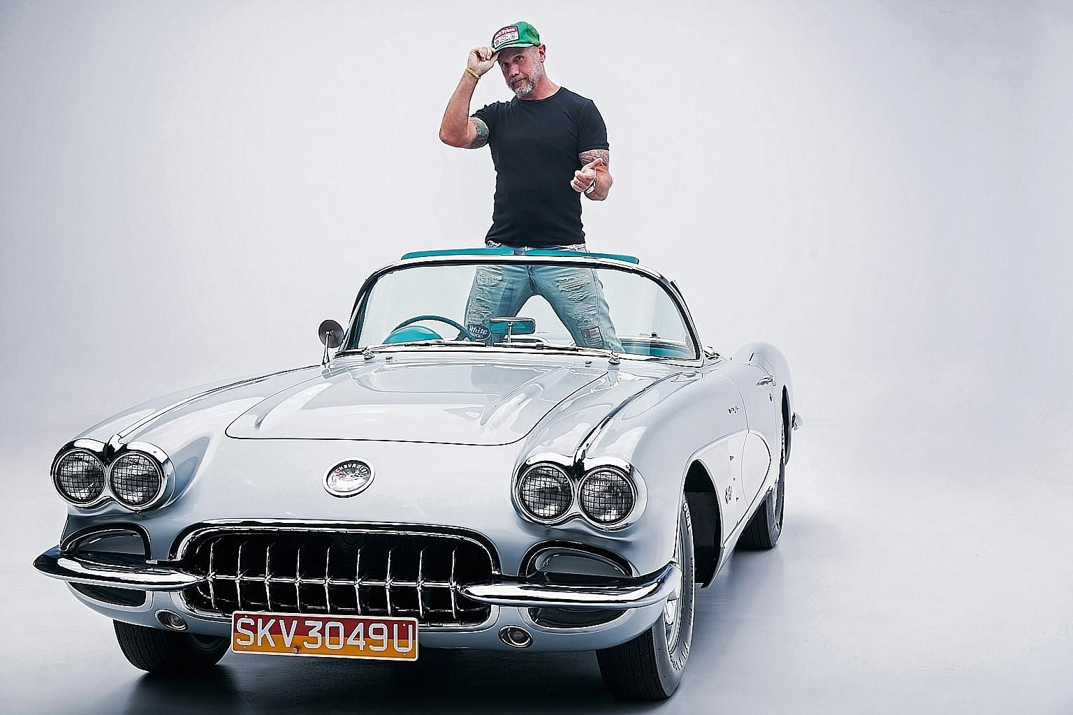 Mr Kevin White converted the Chevrolet Corvette C1 to a right-hand-drive in Cleveland, Ohio, in 2012, and had it imported to and registered in Singapore in 2015.