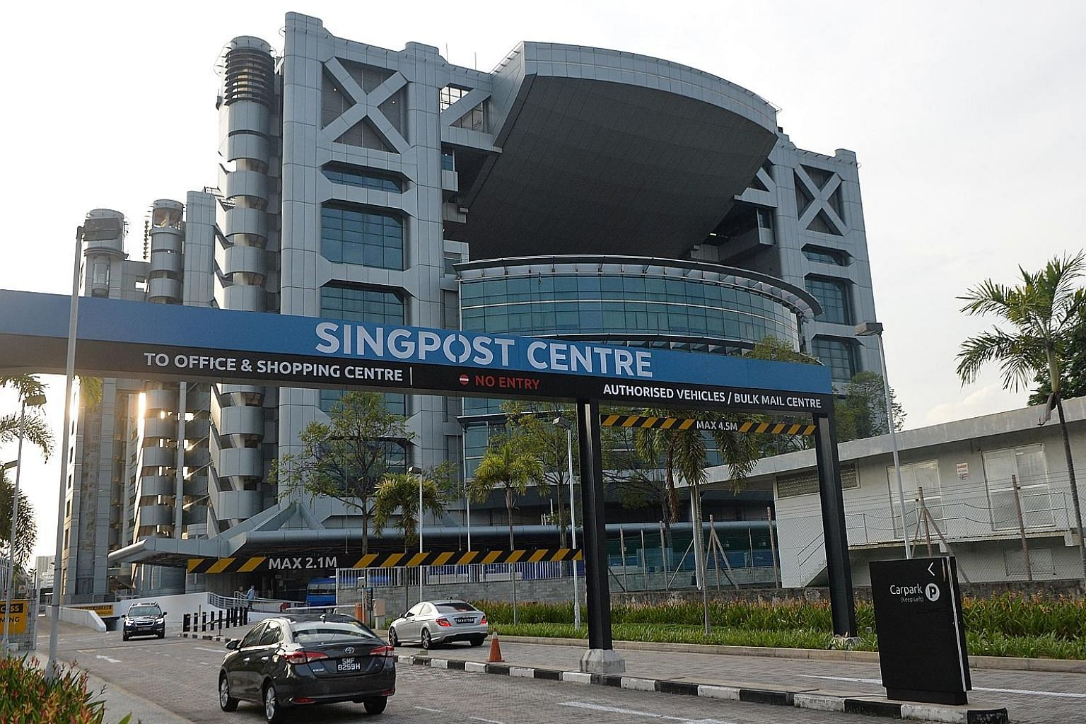 SingPost Centre in Paya Lebar. SingPost bought majority stakes in TradeGlobal and Jagged Peak in 2015 but the foray into the North American e-commerce market did not pan out.
