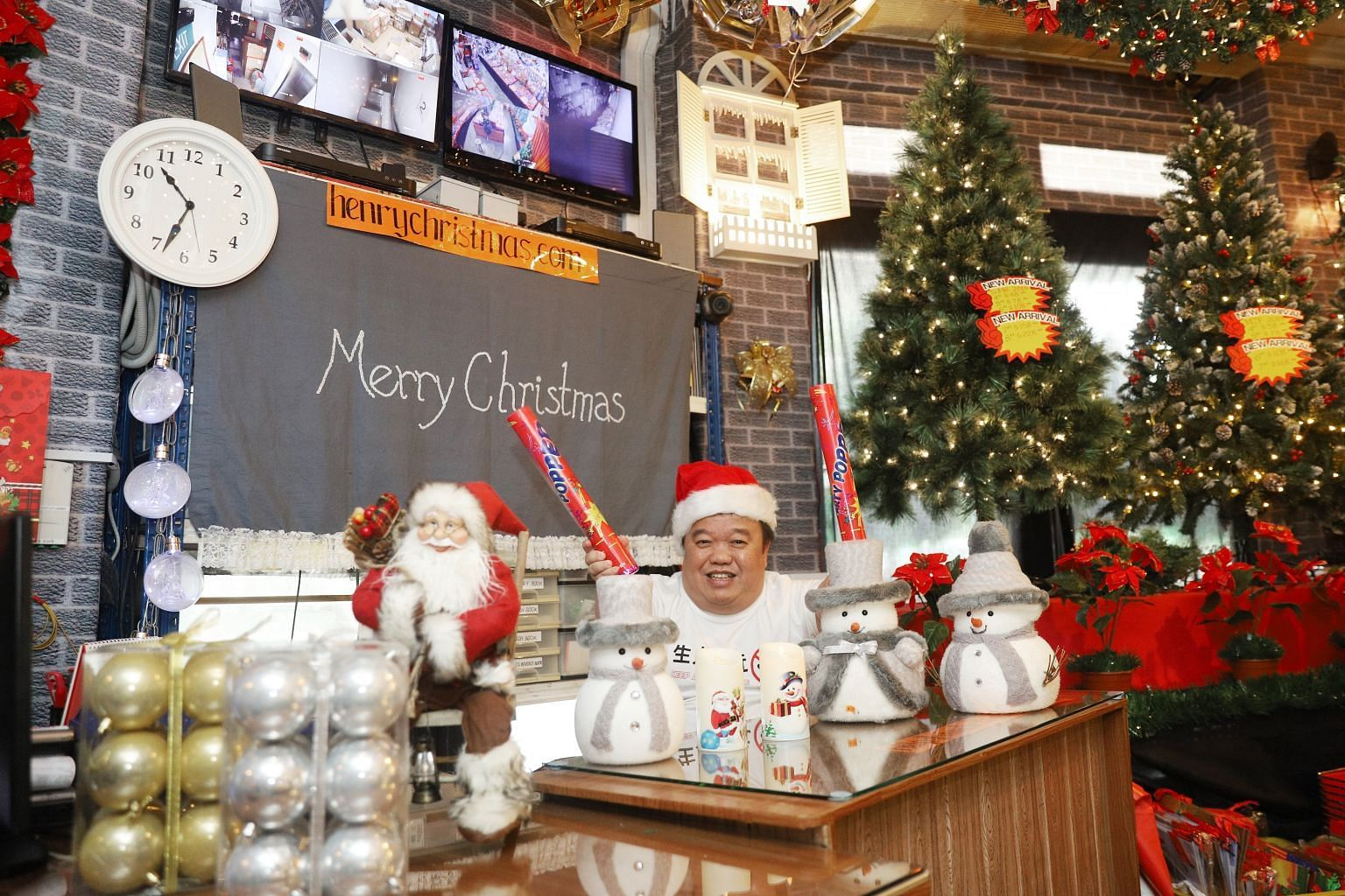 Mr Derrick Tan, owner of Henry Christmas Wholesaler, says the shop has been open since his grandfather opened a market in the space back in the 1930s.