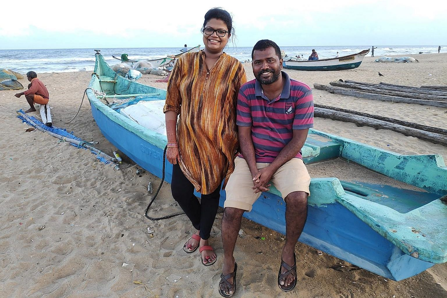 Urur Kuppam fisherman Payalam, 52, showing his notebook with GPS coordinates of rocks and shorelines where migratory fish are found this season. He says bureaucrats who have never gone fishing must respect community knowledge. Ms Pooja Kumar and Mr K