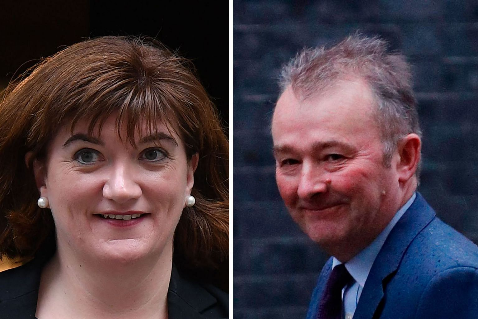 Ms Nicky Morgan (left ) stays on as culture secretary and will advise Mr Boris Johnson on the Huawei issue, while Mr Simon Hart ( right), a former remainer, has been named Welsh secretary.