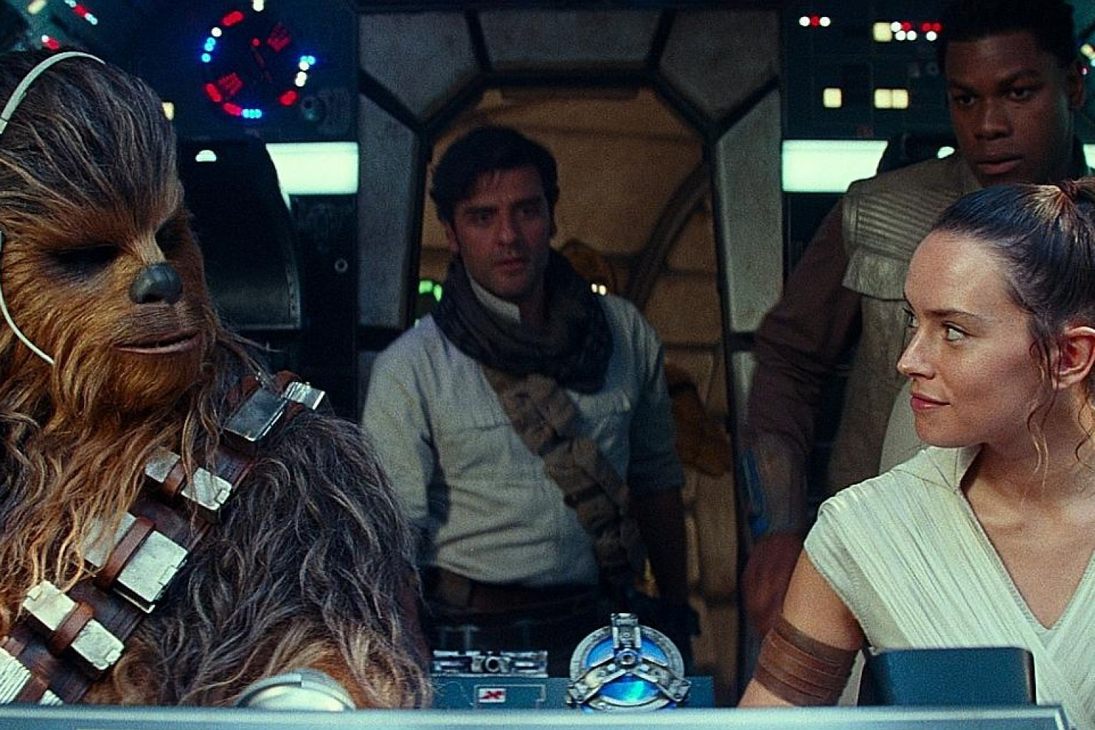 English actress Daisy Ridley reprises her role as Rey (above right) in Star Wars: The Rise Of Skywalker and Vietnamese-American actress Kelly Marie Tran returns as Rose (left).