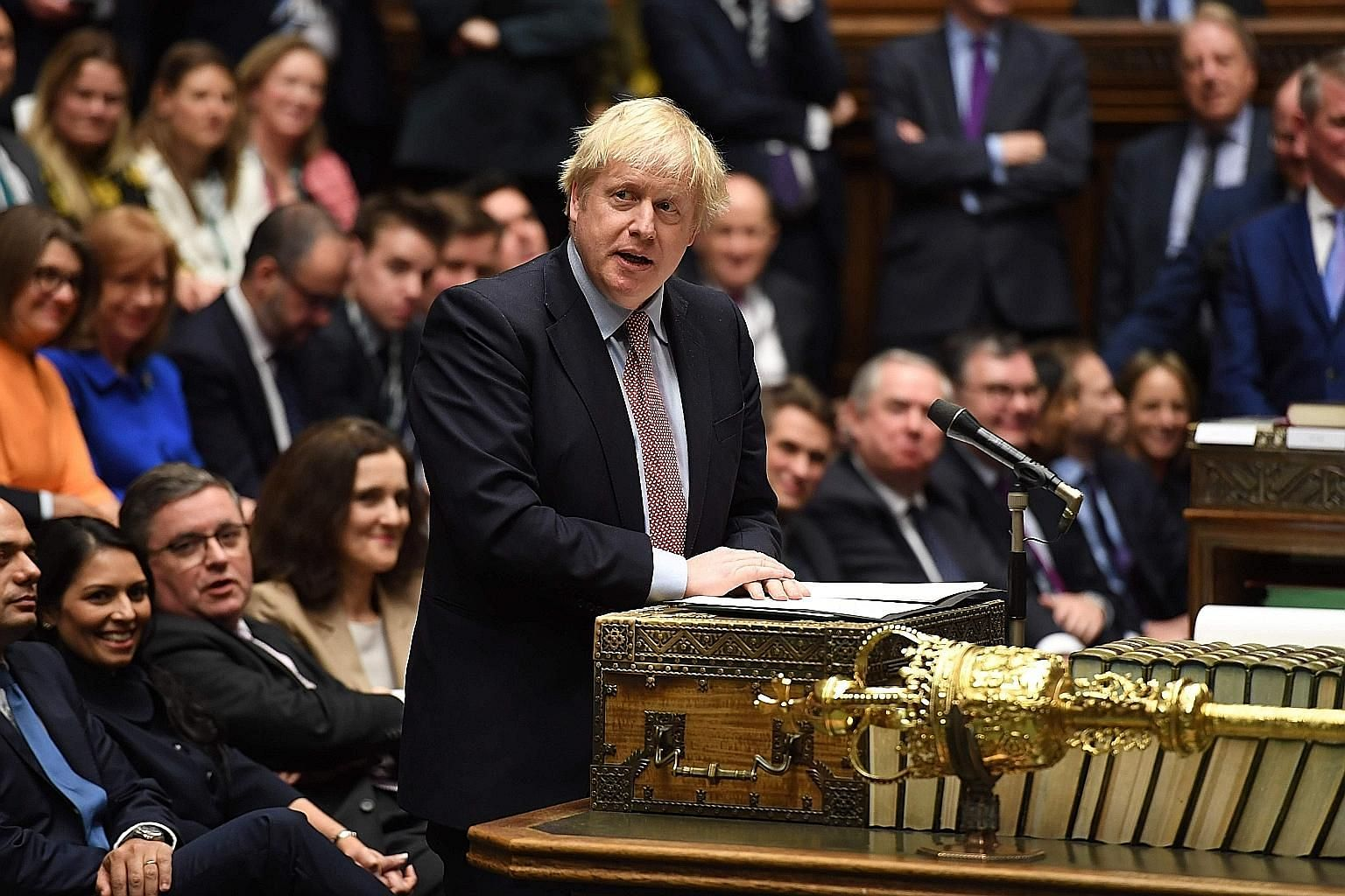 Conservative Prime Minister Boris Johnson is expected to reward working-class voters who deserted the opposition Labour Party by boosting health and other welfare spending. PHOTO: AGENCE FRANCE-PRESSE