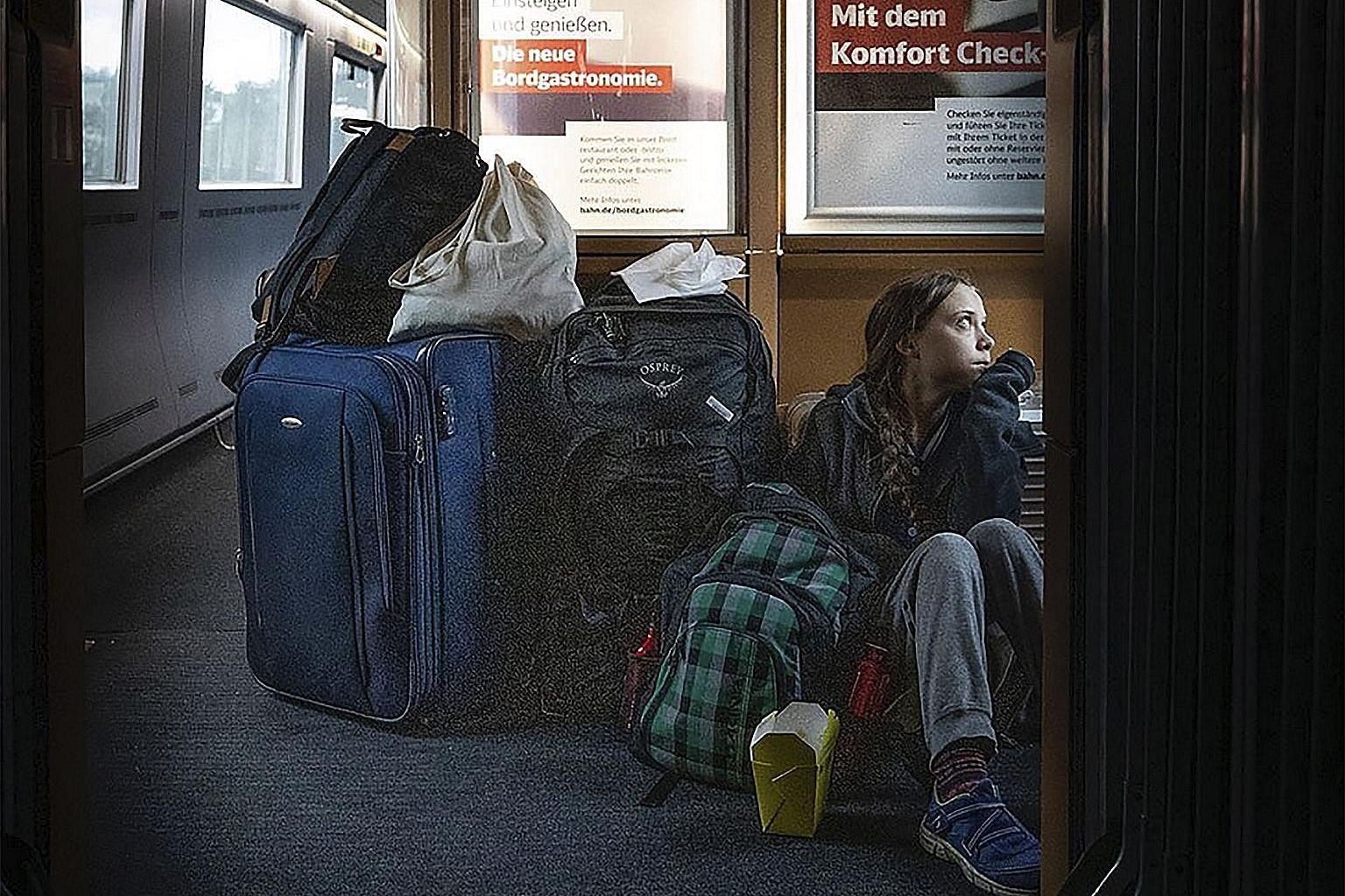 Climate activist Greta Thunberg tweeted a photo of herself sitting on the floor of a Deutsche Bahn train last Saturday, leading to an online tweetstorm about the performance of German railways.