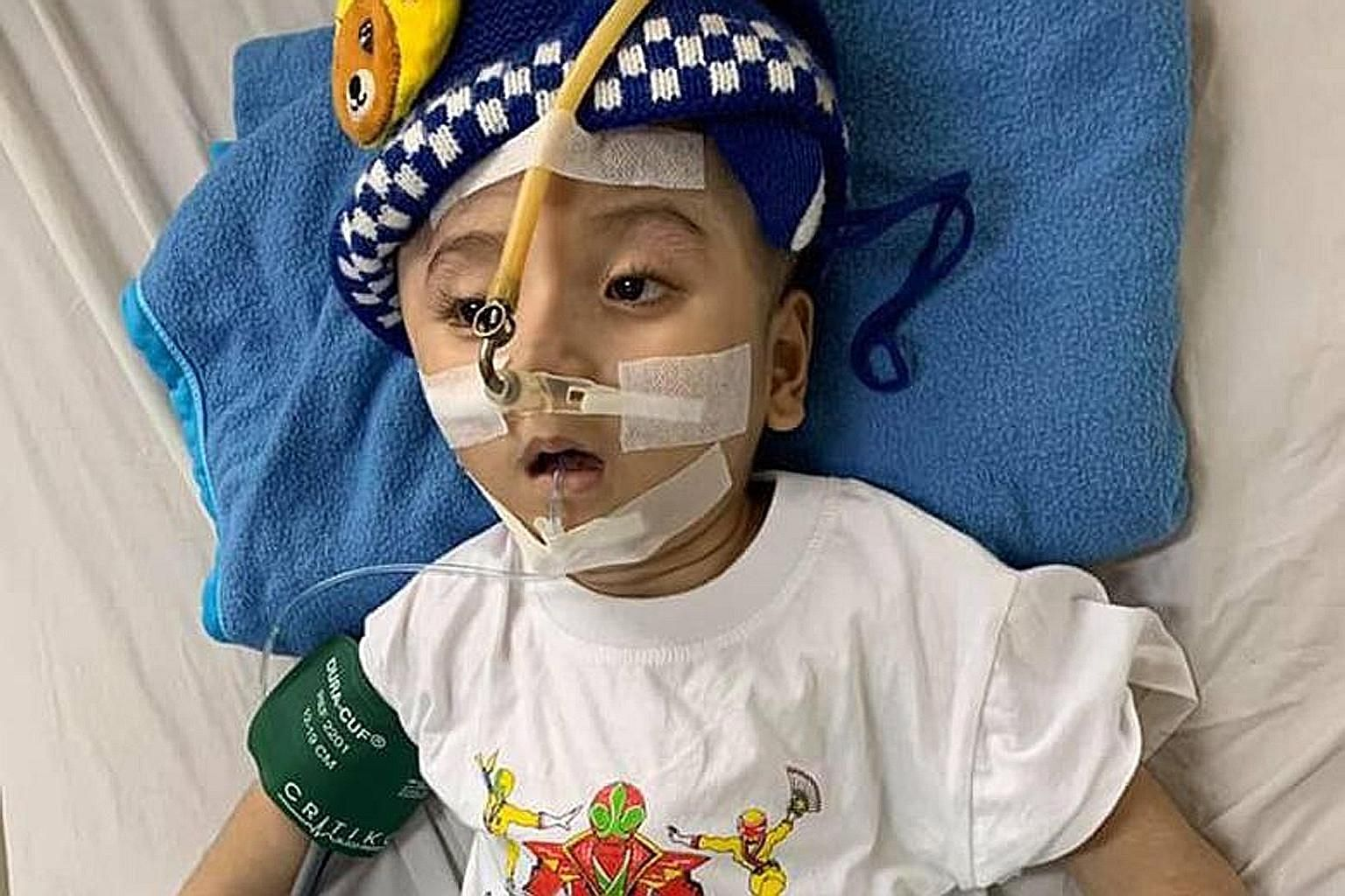 Three-year-old Loc Pham Duc Loc died last Thursday of infection while being treated in a Vietnam hospital.
