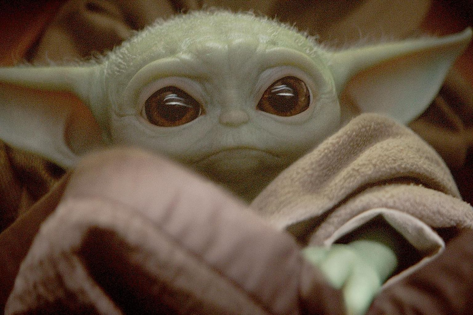 "Baby Yoda is a moniker given to a character from the television show The Mandalorian. Vaguely called ""The Child"" in the series, it resembles Yoda from the Star Wars films."