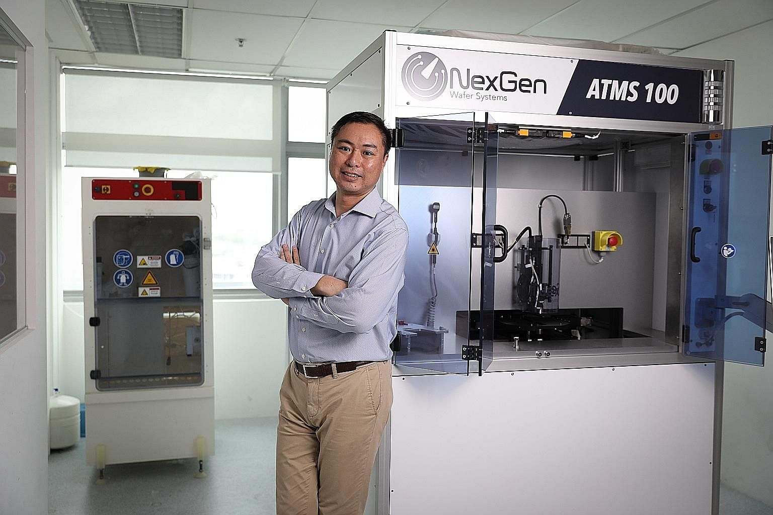 Chief executive Cheung Ting Kwan of NexGen Wafer Systems - a home-grown enterprise with 53 staff - forecasts double-digit revenue growth for his firm next year, and for the following three to five years.
