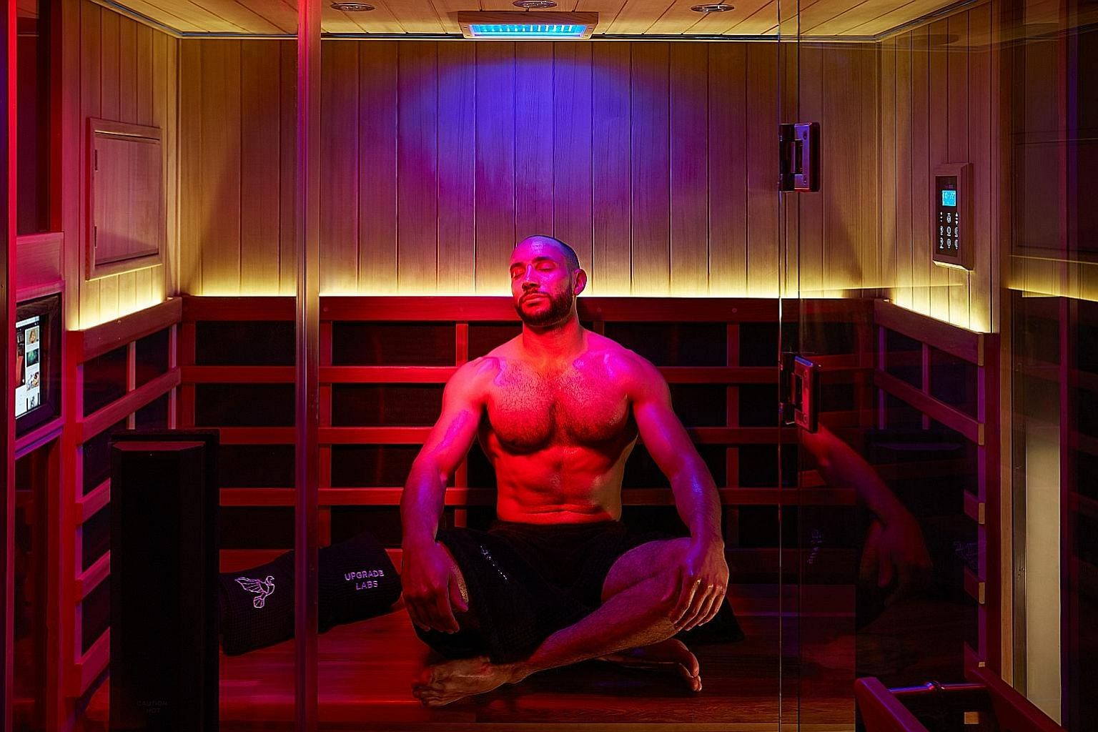 This infrared sauna at Upgrade Labs, a cutting-edge 'biohacking' facility at the Beverly Hilton, is said to enhance the immune and detoxification systems.