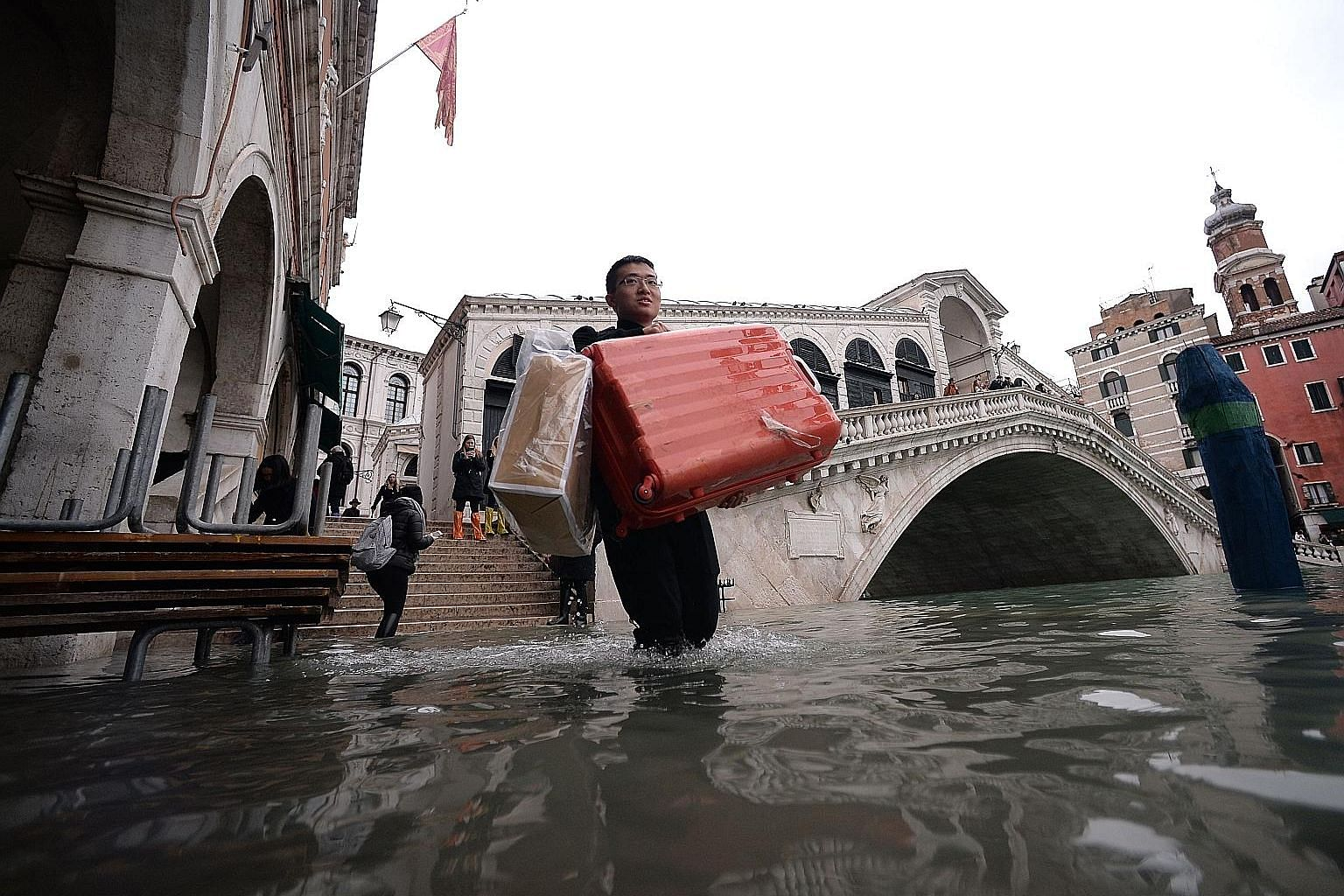 The historic city of Venice, Italy, was hit by major floods last month.