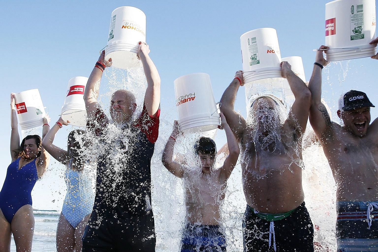 """About 1,000 people showed up for the final """"Plunge for Pete"""" at Good Harbour in Gloucester, Massachusetts, last Saturday. More than half of those braved the frigid waters on what would have been the late Mr Peter Frates' 35th birthday."""