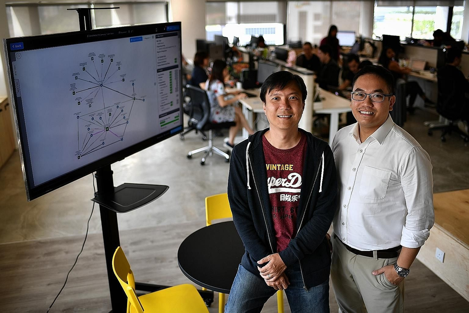 Mr Charles Poon and Mr Daryl Neo, co-founders of DC Frontiers, which has grown its number of government clients from one to 20 within two years of being accredited.
