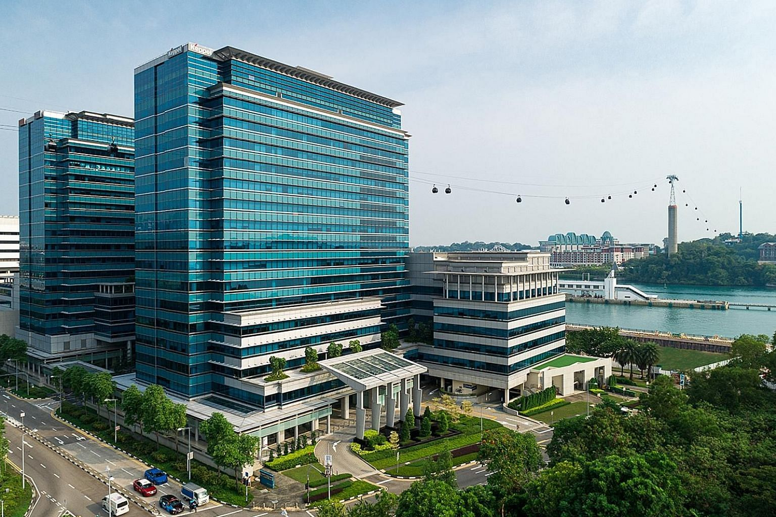 From Jan 1 next year, Keppel Bay Tower (left) will be Singapore's first commercial development to use renewable energy to power all its operations, including the offices of tenants in the building. This is part of Keppel's continued efforts to transf
