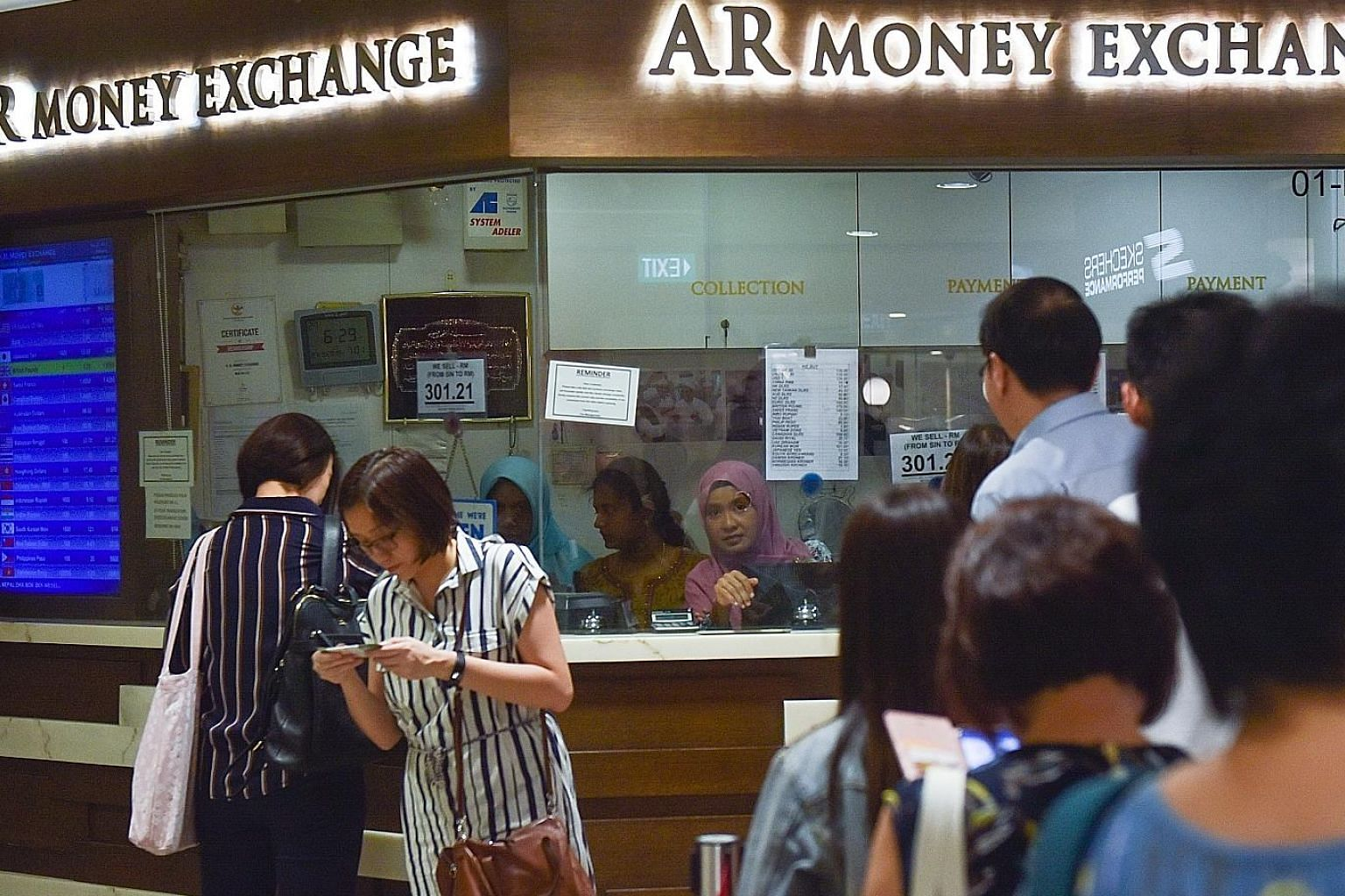 The Singdollar held steady against the greenback and Australian dollar, but was down against the Thai baht and Japanese yen. It also fared slightly higher against the Chinese yuan, Korean won, Malaysian ringgit and Taiwanese dollar.
