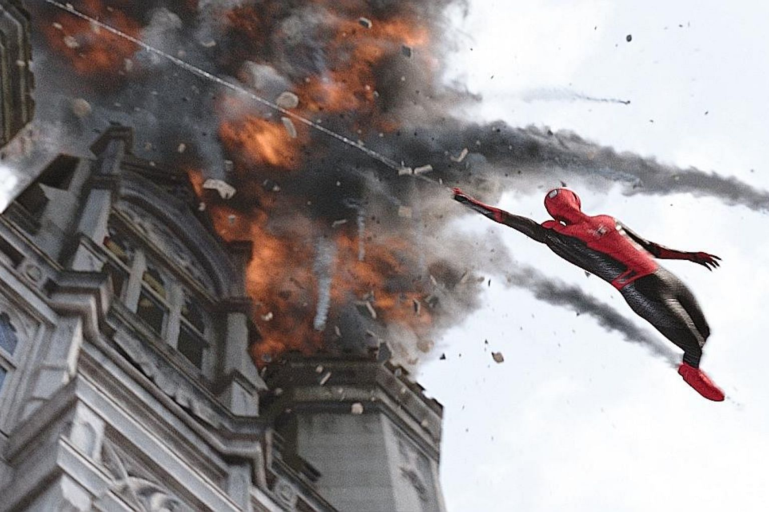 Spider-Man: Far From Home (above) is one of this year's top hits. Singapore film Wet Season, which stars Yang Shi Bin and Yeo Yann Yann (both left), is a thoughtful award-winning drama.