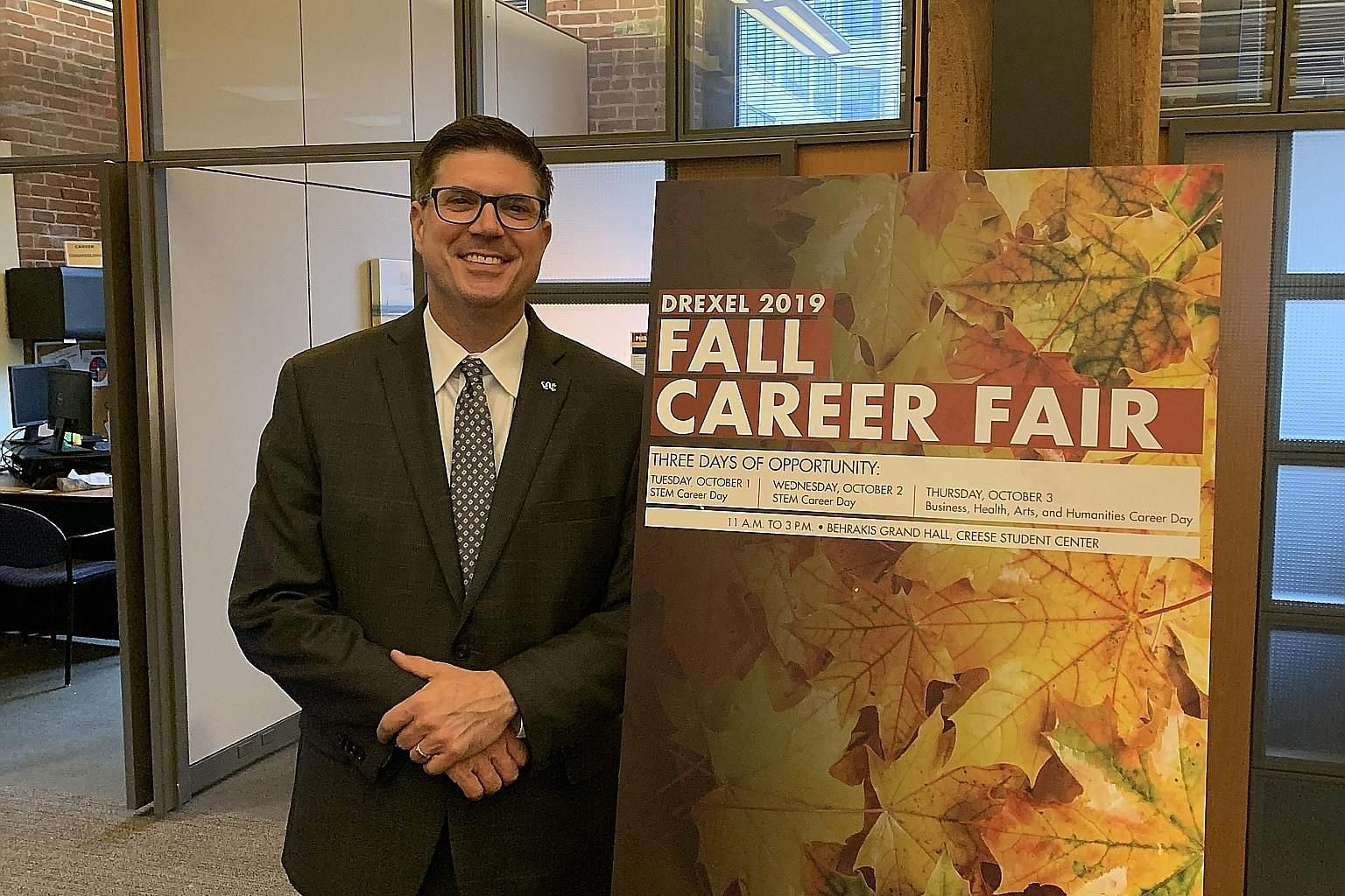 Mr Ian Sladen, vice-president of cooperative education and career development at Drexel University in the United States. ST PHOTO: SANDRA DAVIE
