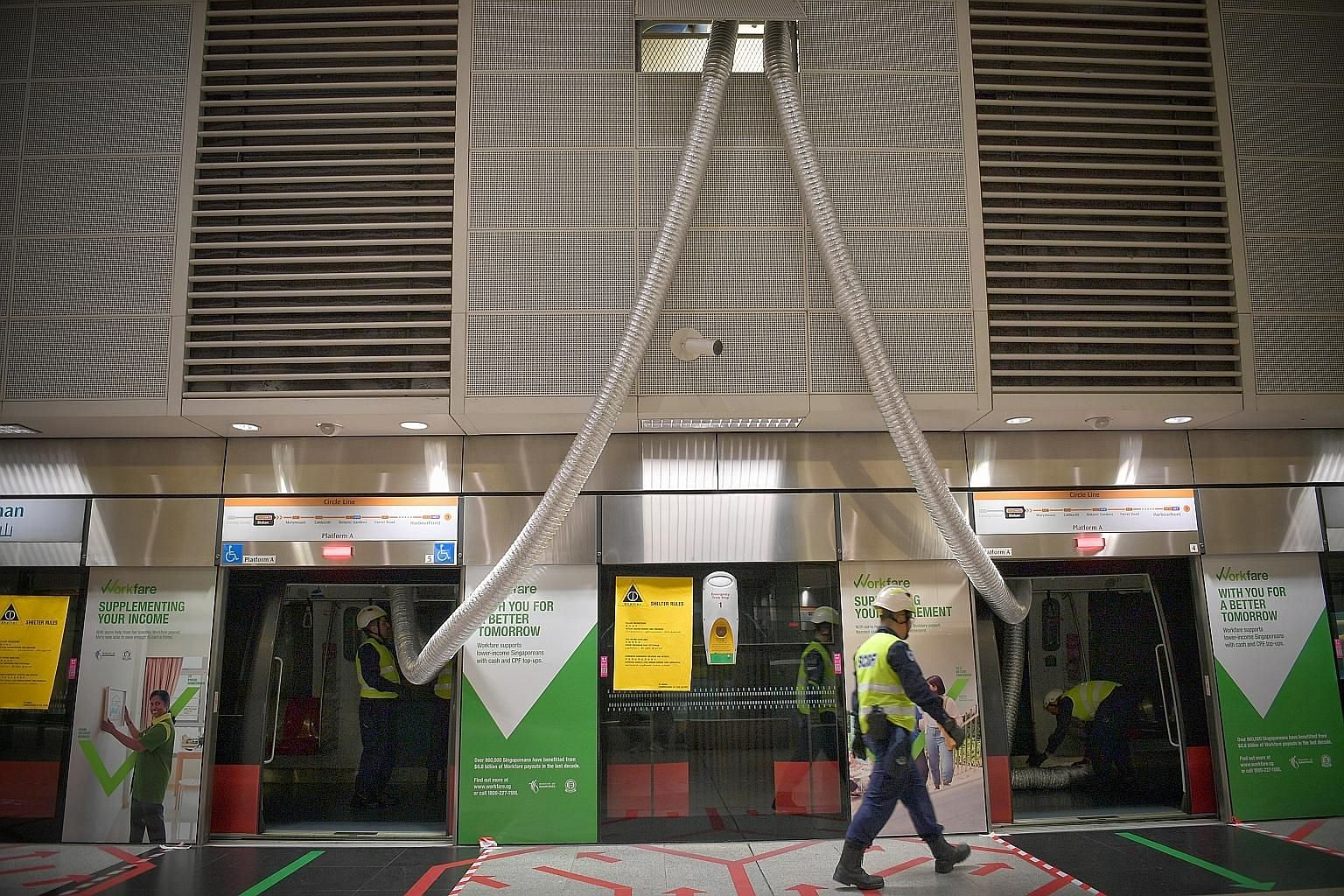 MRT shelters can accommodate between 3,000 and 19,000 people depending on the size. These shelters are designed to ensure a safe and comfortable environment.