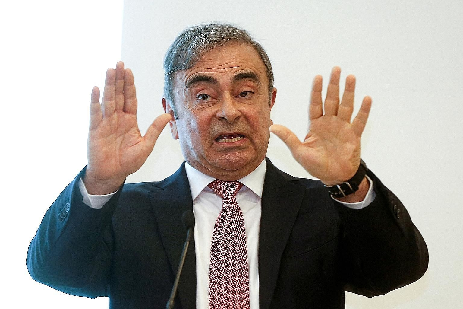Former Nissan chief Carlos Ghosn, speaking at a news conference in Lebanon on Wednesday after his escape from Japan, argued his case for why he is innocent of charges of undeclared income and misuse of corporate funds, and why his arrest was really p