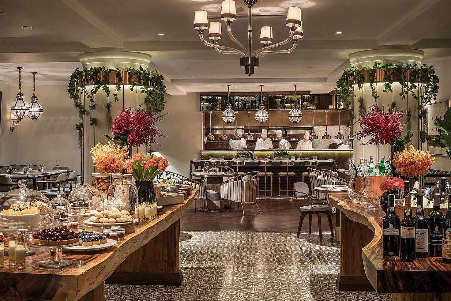 Modern Asian brasserie One-Ninety at Four Seasons Hotel Singapore. SPH subscribers can enjoy 15 per cent off the total bill at the restaurant, excluding alcohol beverages.