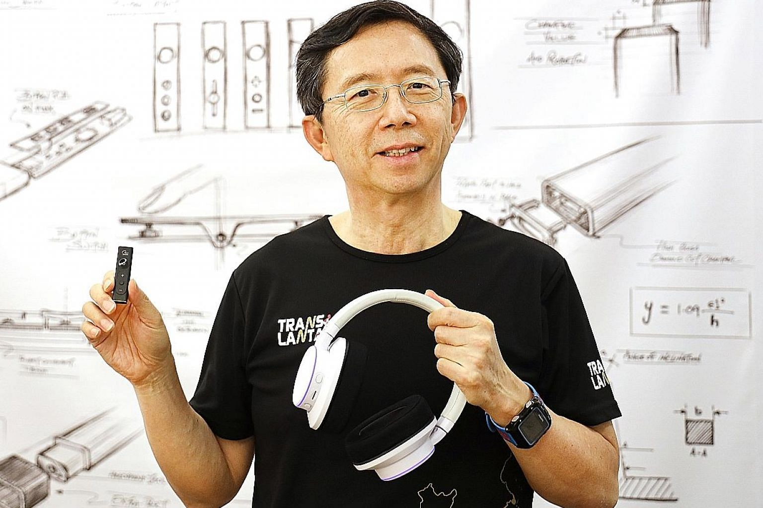 Creative CEO Sim Wong Hoo, with Super X-Fi products. New additions to its suite of products were launched at CES 2020, held in Las Vegas last week.
