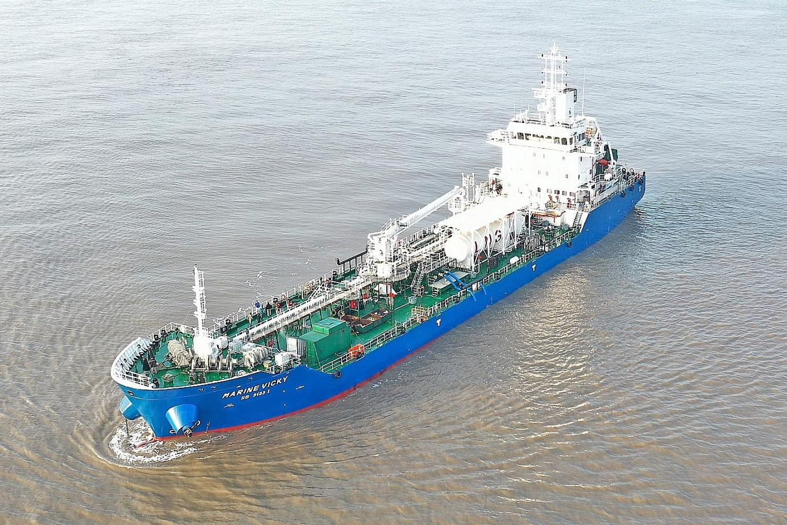 Sinanju Tankers' liquefied natural gas-powered bunker tanker, the first of its kind in Singapore, will start operations soon.