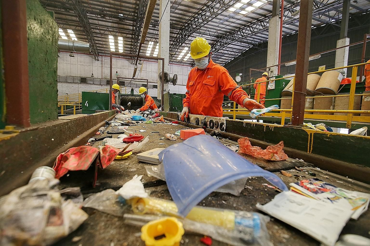 SembWaste's materials recovery facility in Tuas. The wholly owned unit of Sembcorp Industries has agreed to buy the entire stake in Veolia ES Singapore and the public cleaning arm of Veolia ES Singapore Industrial for about $28 million.