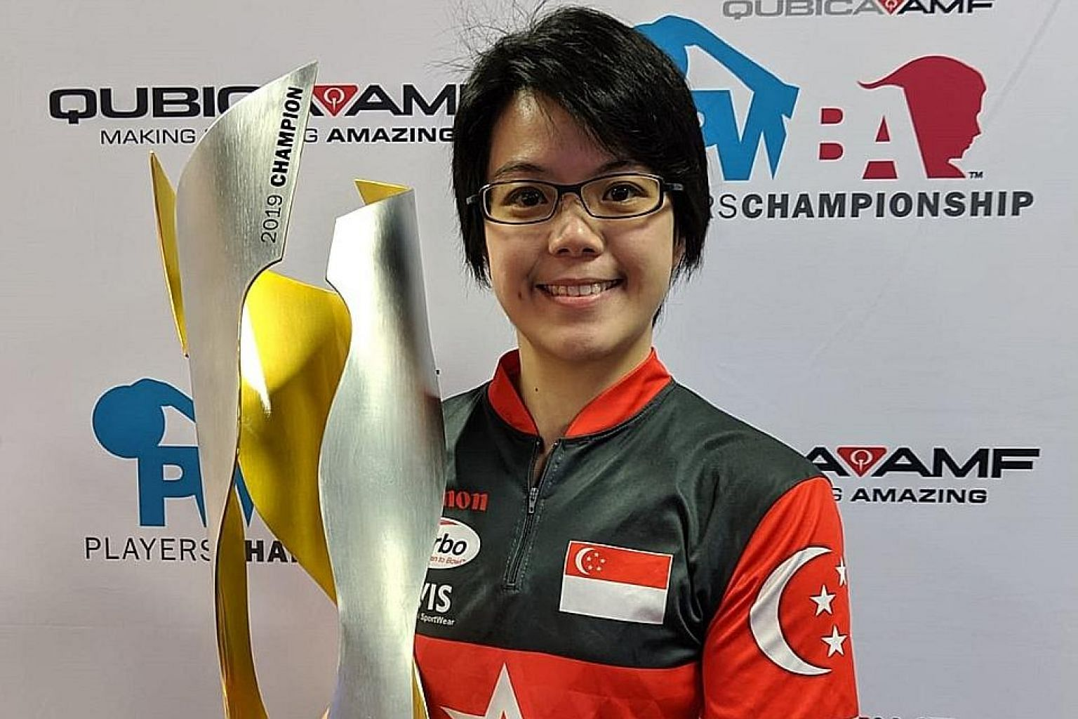 Cherie Tan became the first Asian winner of the Professional Women's Bowling Association Players Championship in the United States last September.