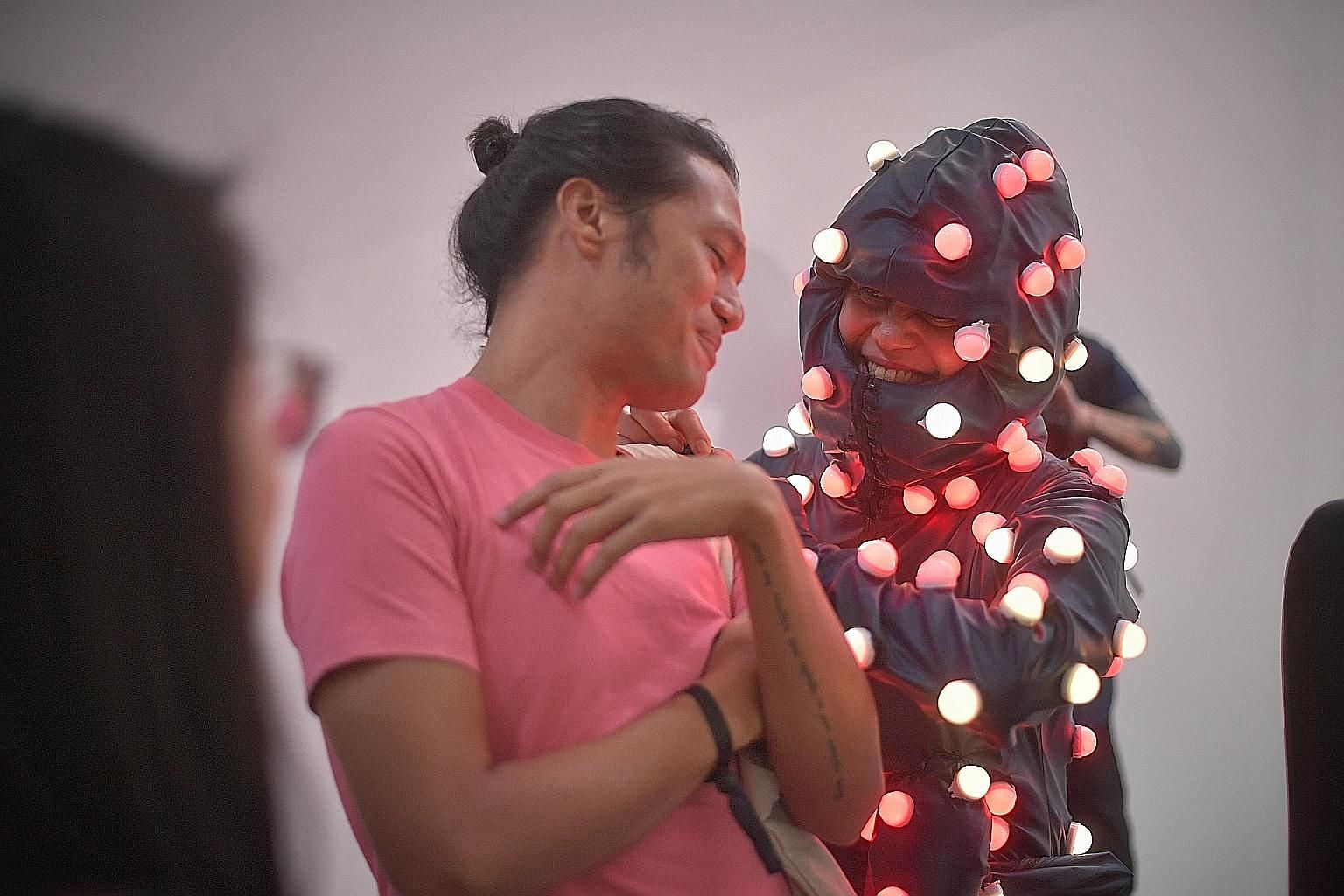 Filipino artist Lilibeth Cuenca Rasmussen presented an interactive performance, Octopada, at the S.E.A. Focus showcase in Gillman Barracks, now in its second edition as part of Singapore Art Week 2020.