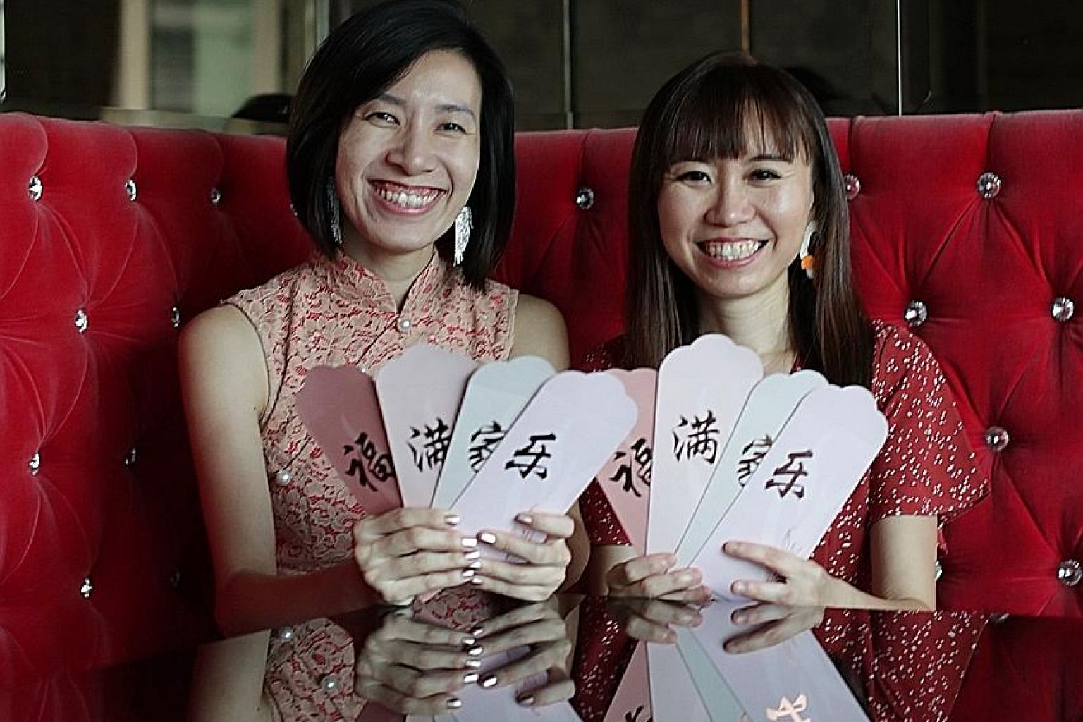 Ms Serene Wu (far left) with Ms Michelle Tay