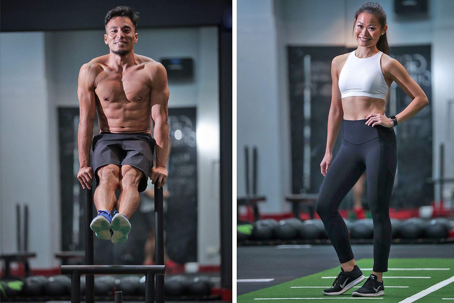 Lim Yao Xiang (left), Olivia Wong