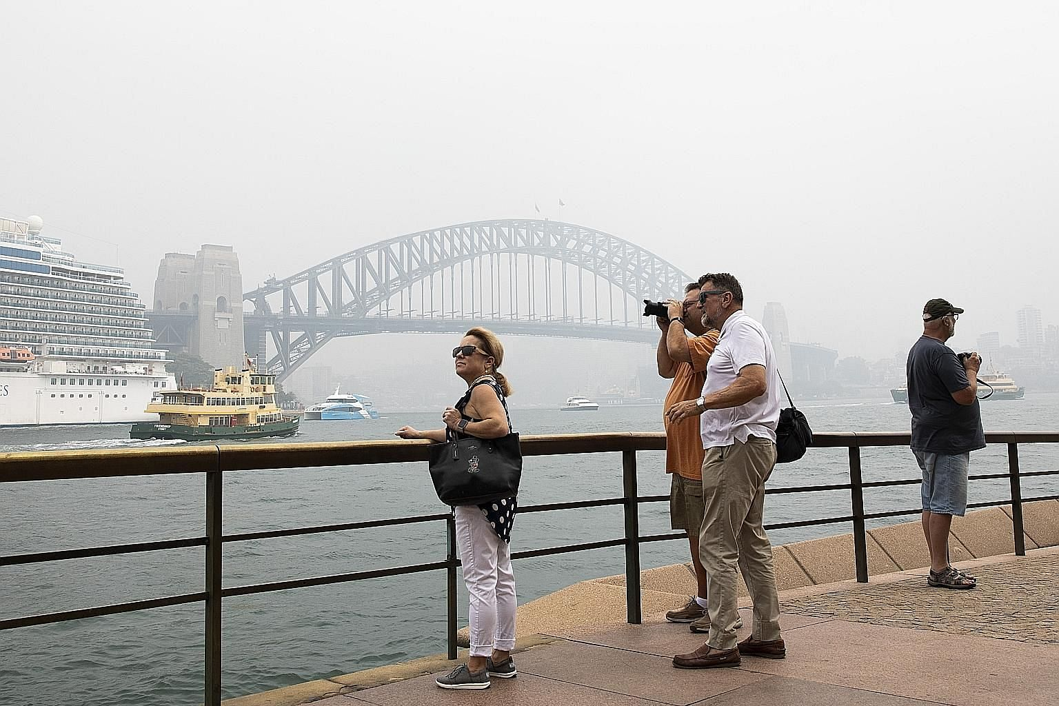 Sydney shrouded in haze earlier this month. The Australian government said the A$76 million (S$70 million) aid is an initial push to help the country's A$152 billion tourism industry, which accounts for more than 3 per cent of annual economic output.