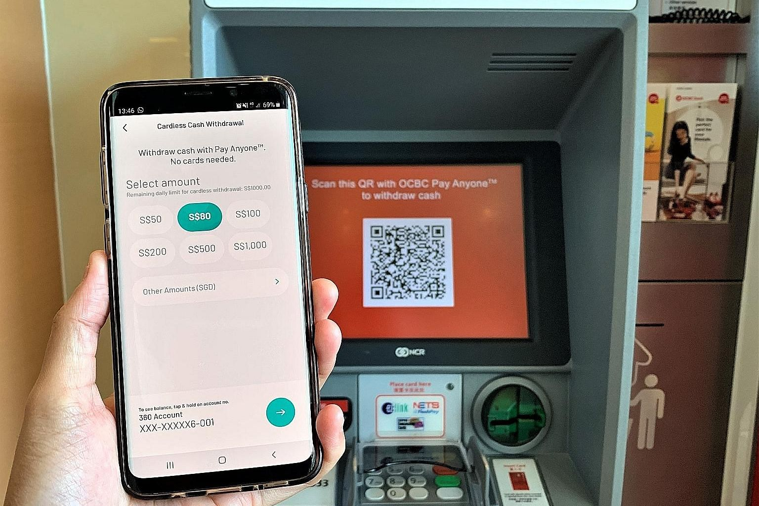 OCBC Bank is the first here to enable ATM cash withdrawals using QR codes. Eight in 10 of its digitally active customers bank on their mobiles.