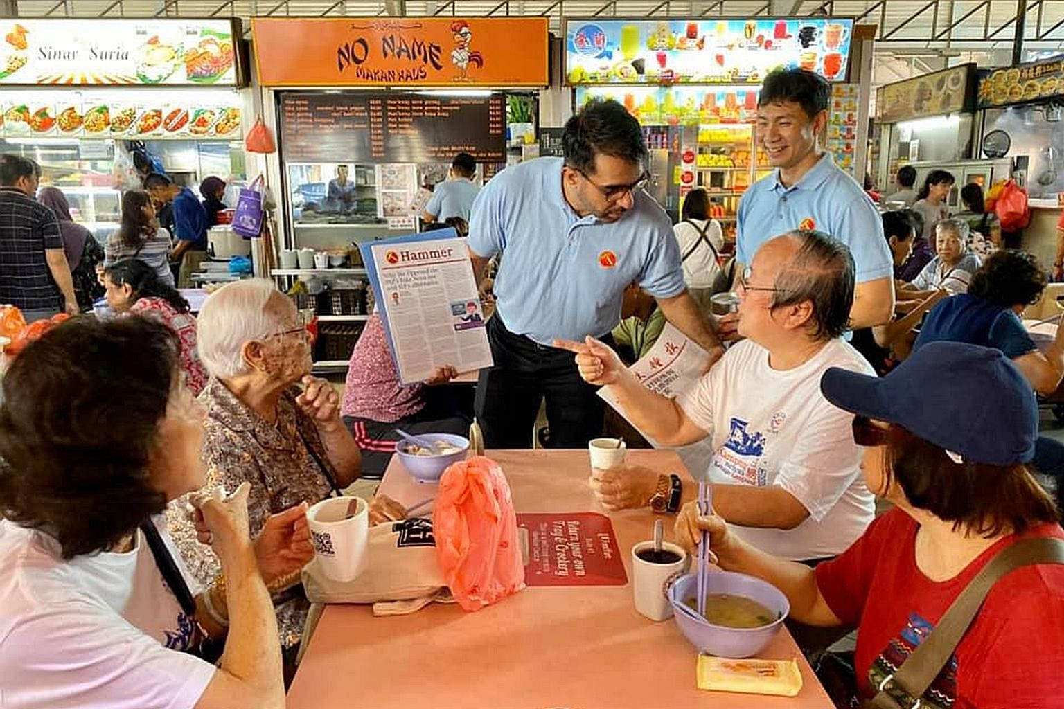 """Workers' Party chief Pritam Singh during one of the party's walkabouts last month. In his speech at the WP annual members forum, Mr Singh said the opposition's role is to make sure the ruling party """"does not have a blank cheque to do whatever it want"""