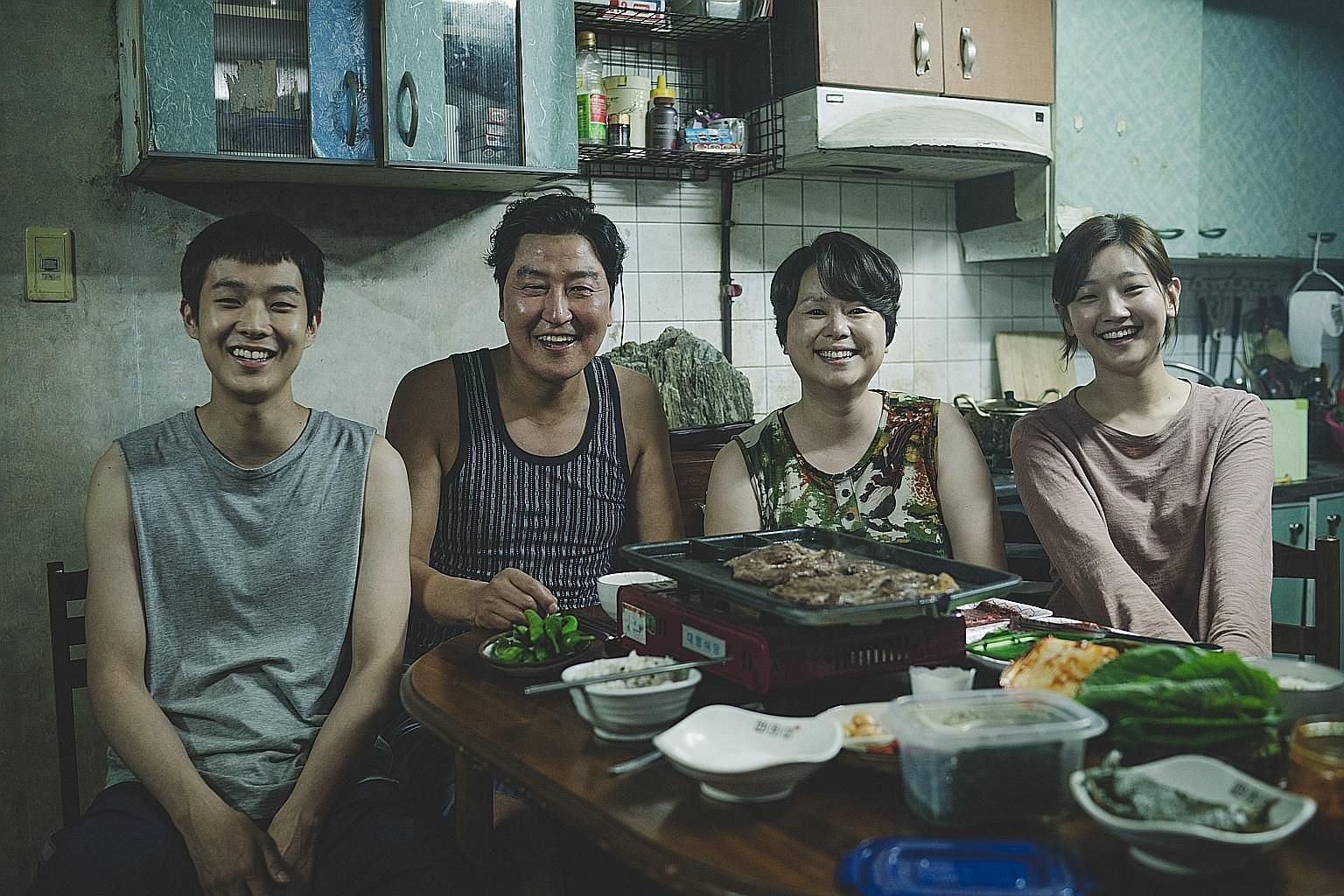 Parasite, starring (from left) Choi Woo-sik, Song Kang-ho, Jang Hye-jin and Park So-dam, is in the Oscars race with six nominations, including Best Picture. Things are looking good for World War I drama 1917, which picked up the Producers Guild Award