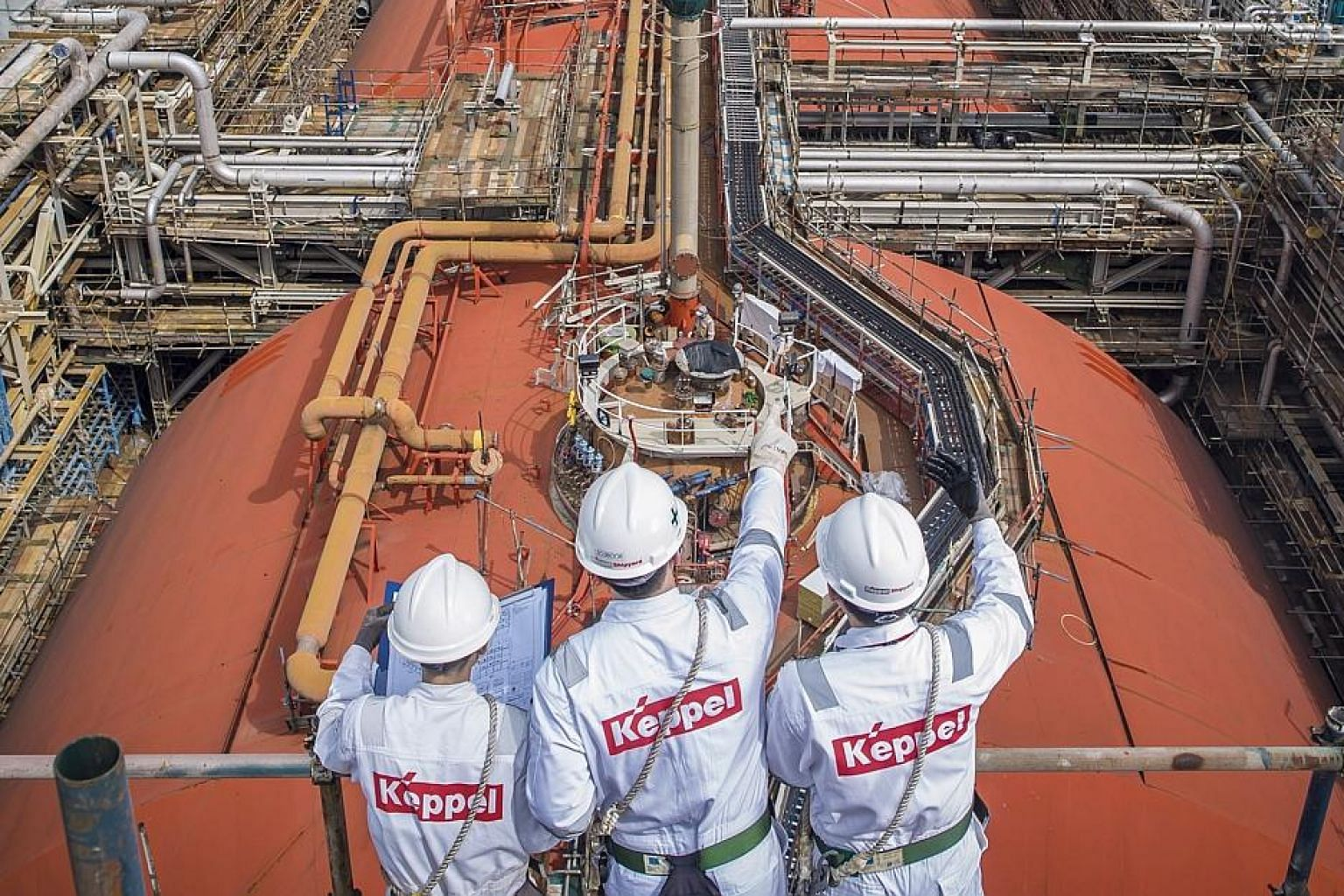 Keppel O&M saw an increased workload last year, which led it to hire 2,800 additional direct employees, more than it had anticipated. PHOTO: KEPPEL CORPORATION