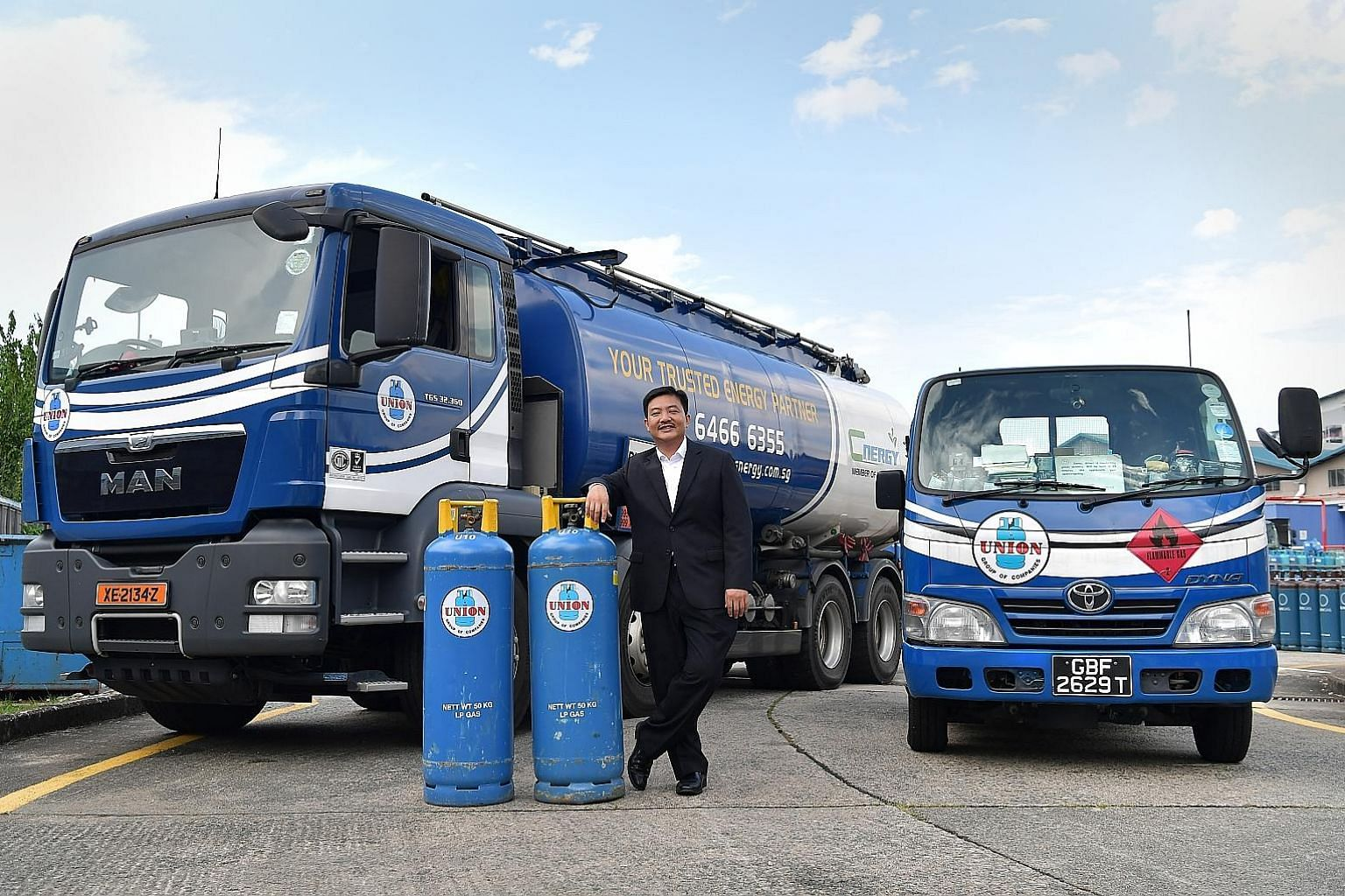 "As the son of a gas entrepreneur, Union Gas chief executive Teo Hark Piang describes the bright blue LPG cylinder as a ""constant companion"" in his growing-up years. With over 200 vehicles, the group operates one of the largest delivery fleets for the"