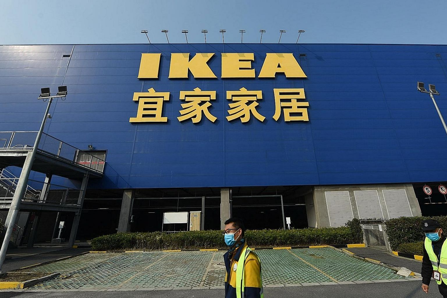 A closed Ikea store in the city of Hangzhou, in China's Zhejiang province. The Swedish furniture firm and tech giant Apple are shutting stores as part of protection measures amid the coronavirus outbreak. PHOTO: EPA-EFE