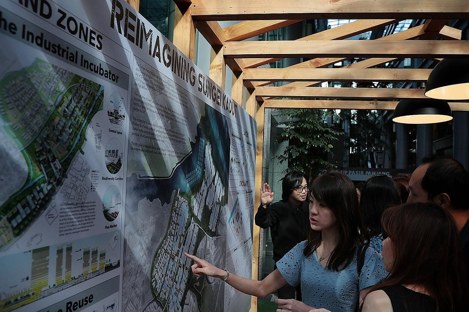 The masterplan exhibition for the rejuvenation of the 500ha Sungei Kadut Eco-District, held at the Urban Redevelopment Authority Centre, is open to the public till Feb 19.