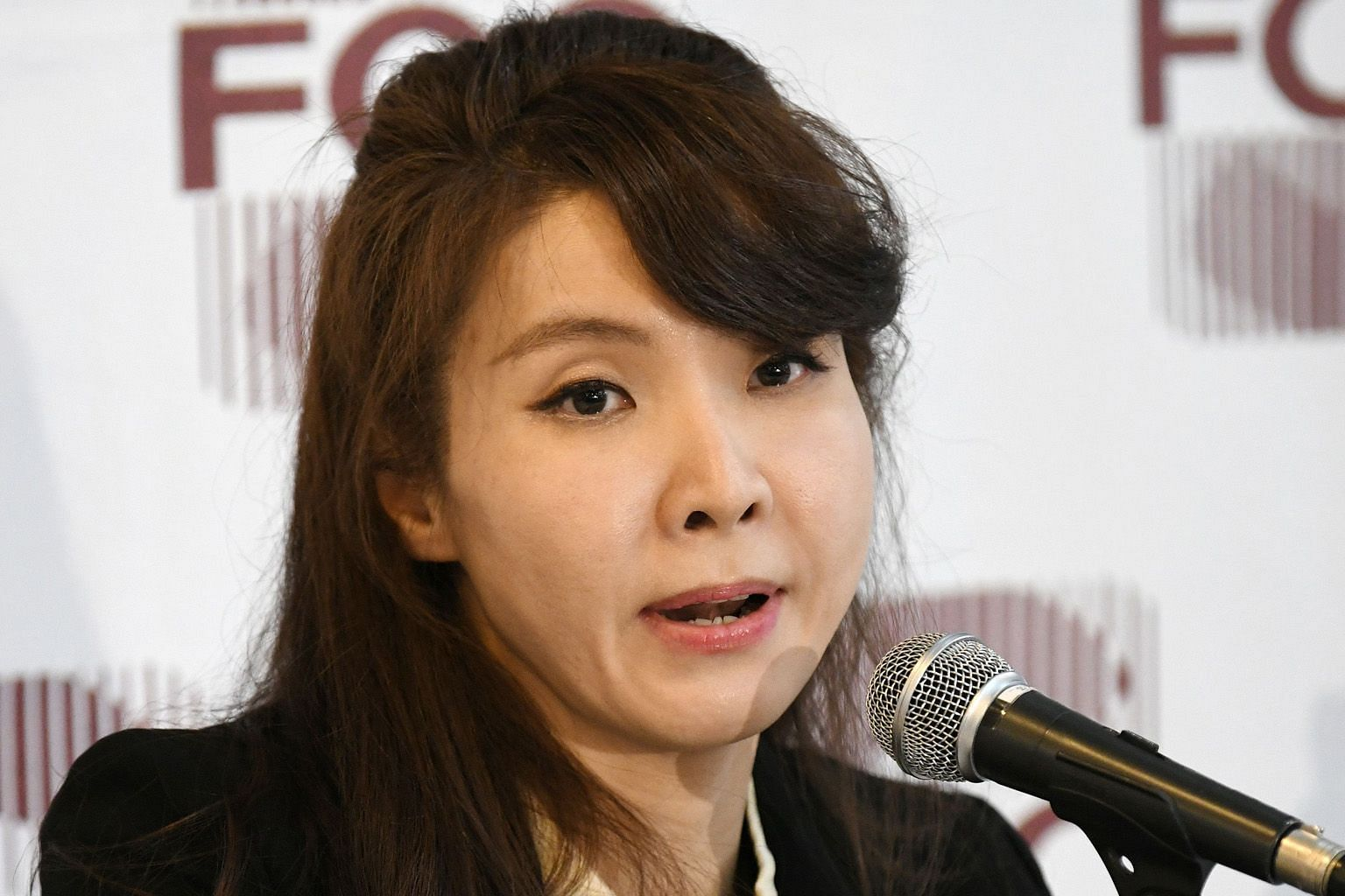 South Korean prosecutor Seo Ji-hyun speaking at a press conference with foreign correspondents in Seoul on Friday. PHOTO: AGENCE FRANCE-PRESSE