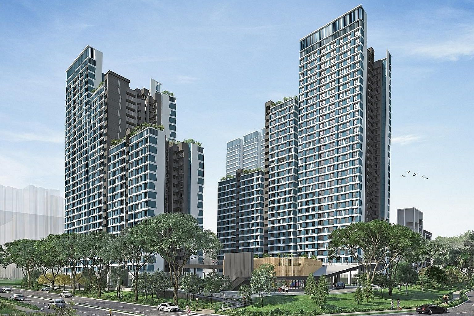 Kim Keat Ripples will have 708 units in two-room flexi and four-room flat types. Prices start from $90,000, excluding grants, for a two-room flexi flat.
