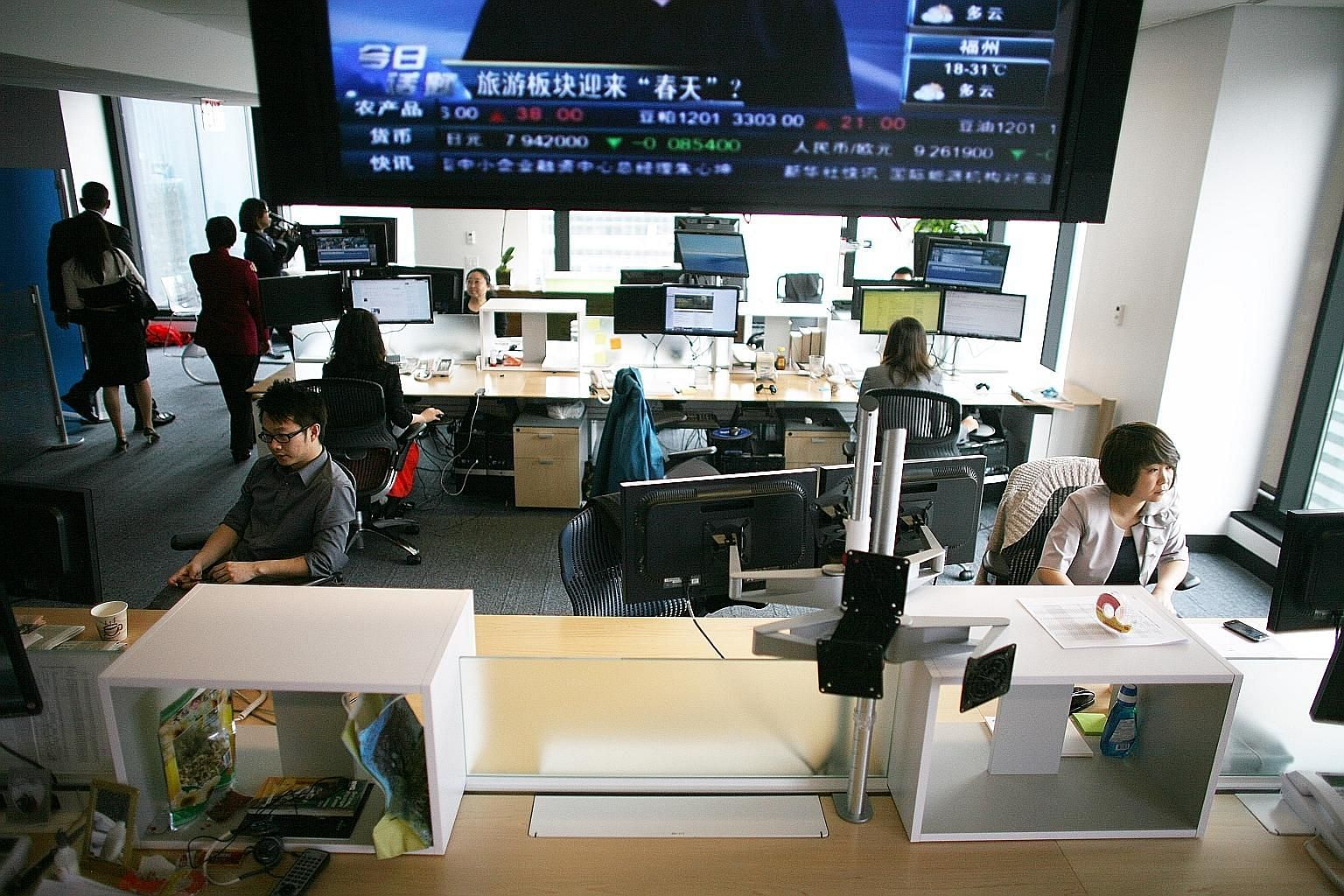 The Xinhua News Agency's North America headquarters in New York seen in this 2011 picture. The US State Department informed China on Tuesday that its five foremost news agencies, including Xinhua, will now officially be treated as foreign government
