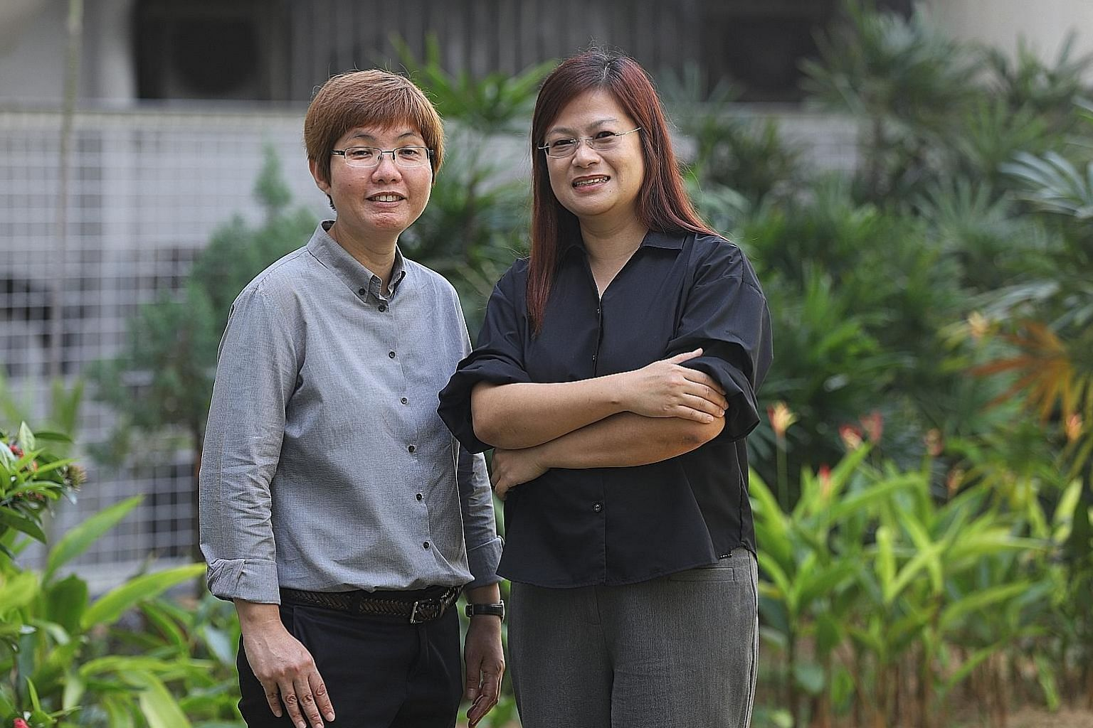 Ms Tian Ching Ching (right) and Ms Julia Quek are among the social workers stationed at Bedok Police Division. Most of the more than 110 offenders who have been referred to them were arrested for crimes such as theft or for causing hurt, said Ms Tian